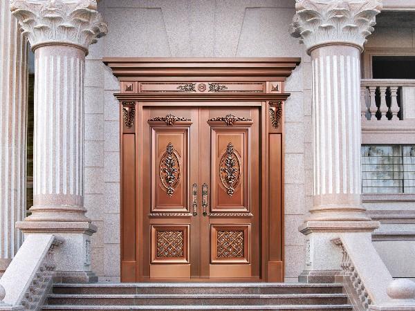 铜门行业内的别墅铜大门