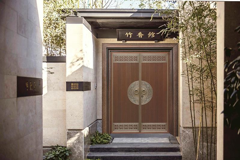 爱唯铜门对开门-国色天香