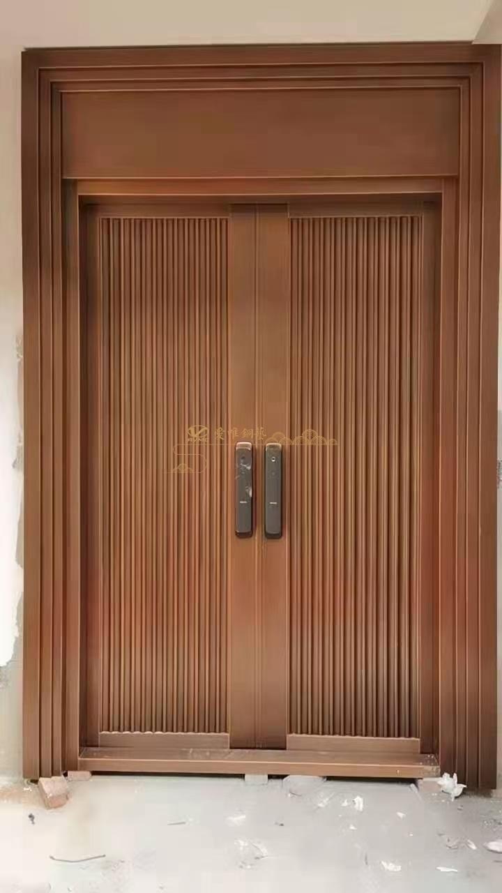 焊接工艺别墅铜门简约款 (2)