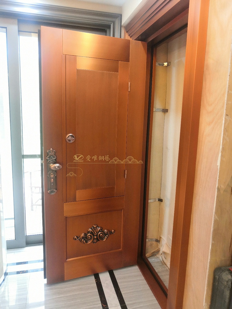入户铜门门中门 (2)