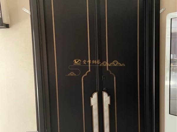 佛山别墅铜门厂家爱唯铜艺——铜门厂家展厅新中式铜门