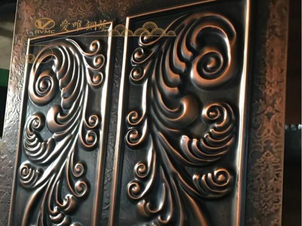 广东别墅铜门厂家爱唯铜艺——铜门花件效果显著