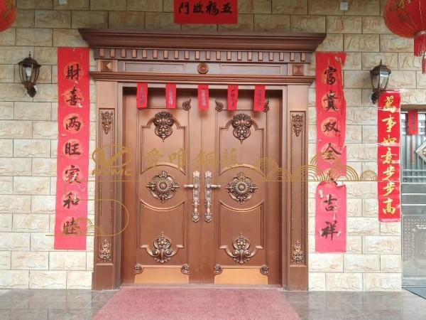 佛山别墅铜大门作为建筑材料