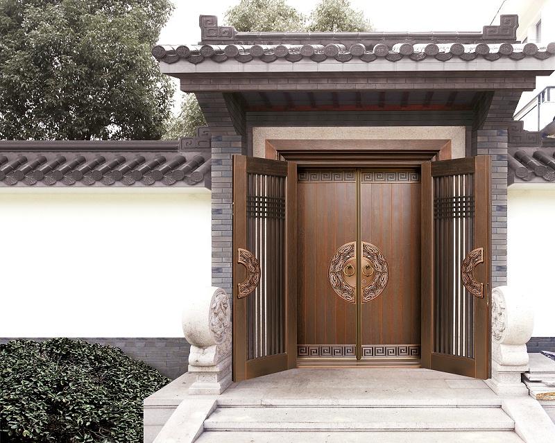 爱唯铜门中式铜门