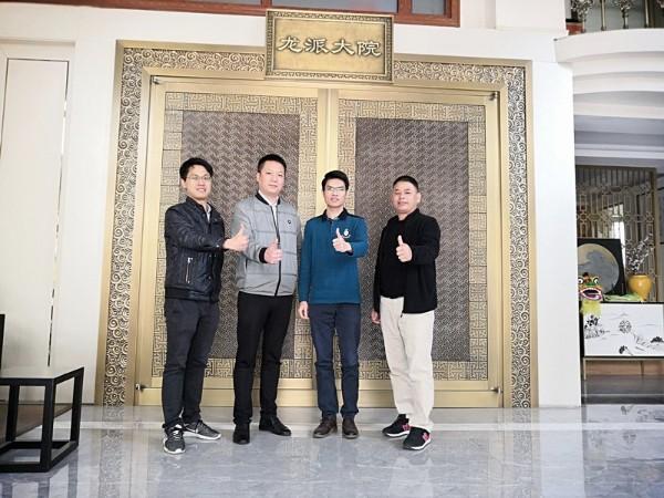 热烈祝贺佛山铜门生产厂家爱唯銅兿进驻天津市场