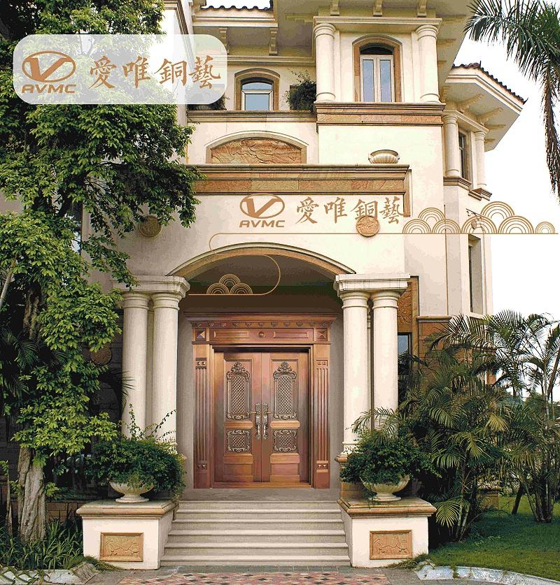 爱唯铜门欧式铜门