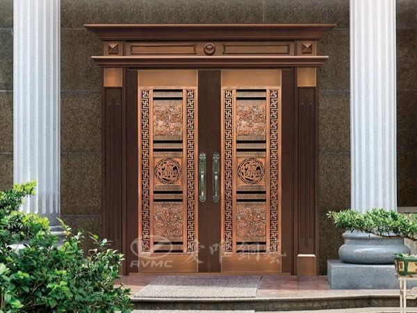 真铜门和镀铜门