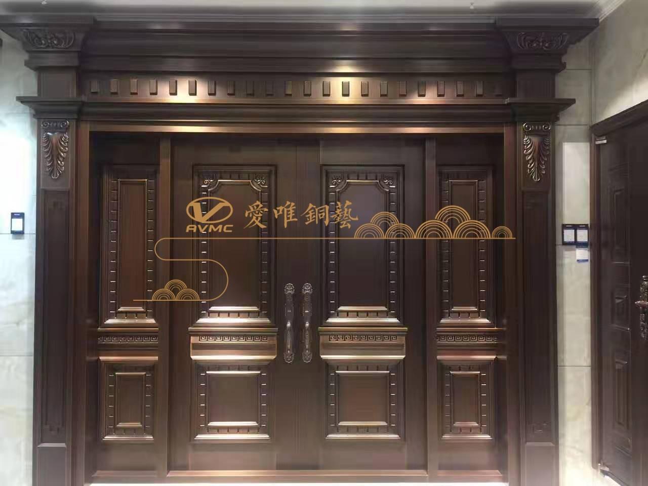 铜门厂家跟您一起分析别墅铜门