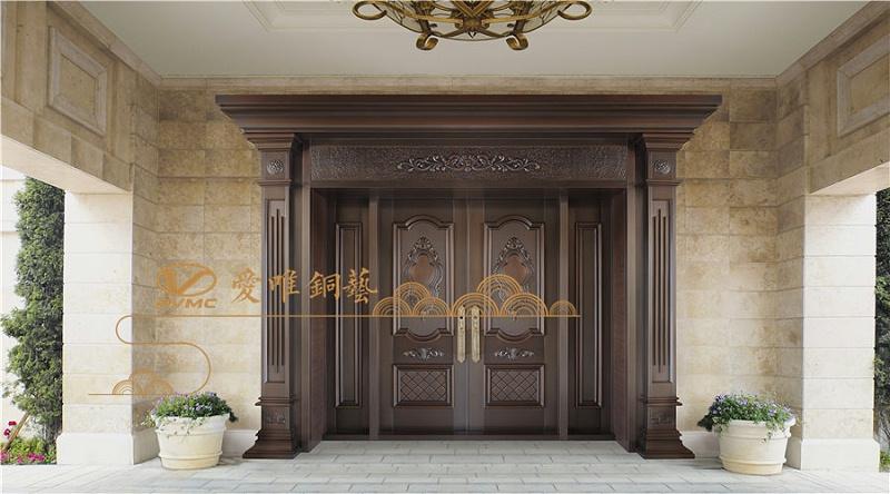 爱唯铜门对开子母门-贵族世家