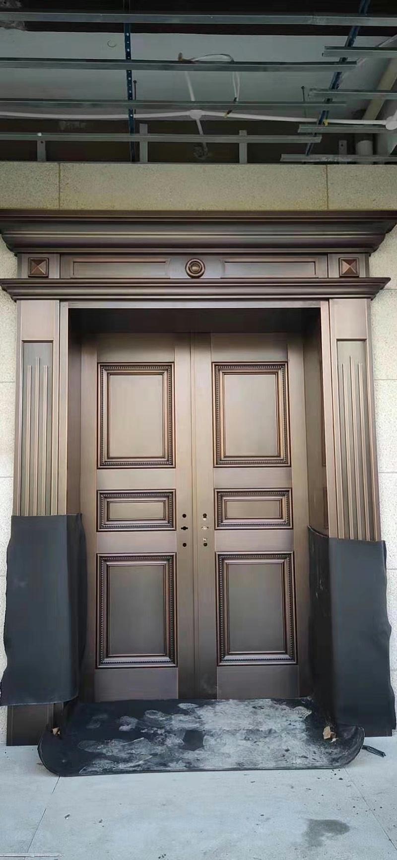 简约别墅铜门 (1)