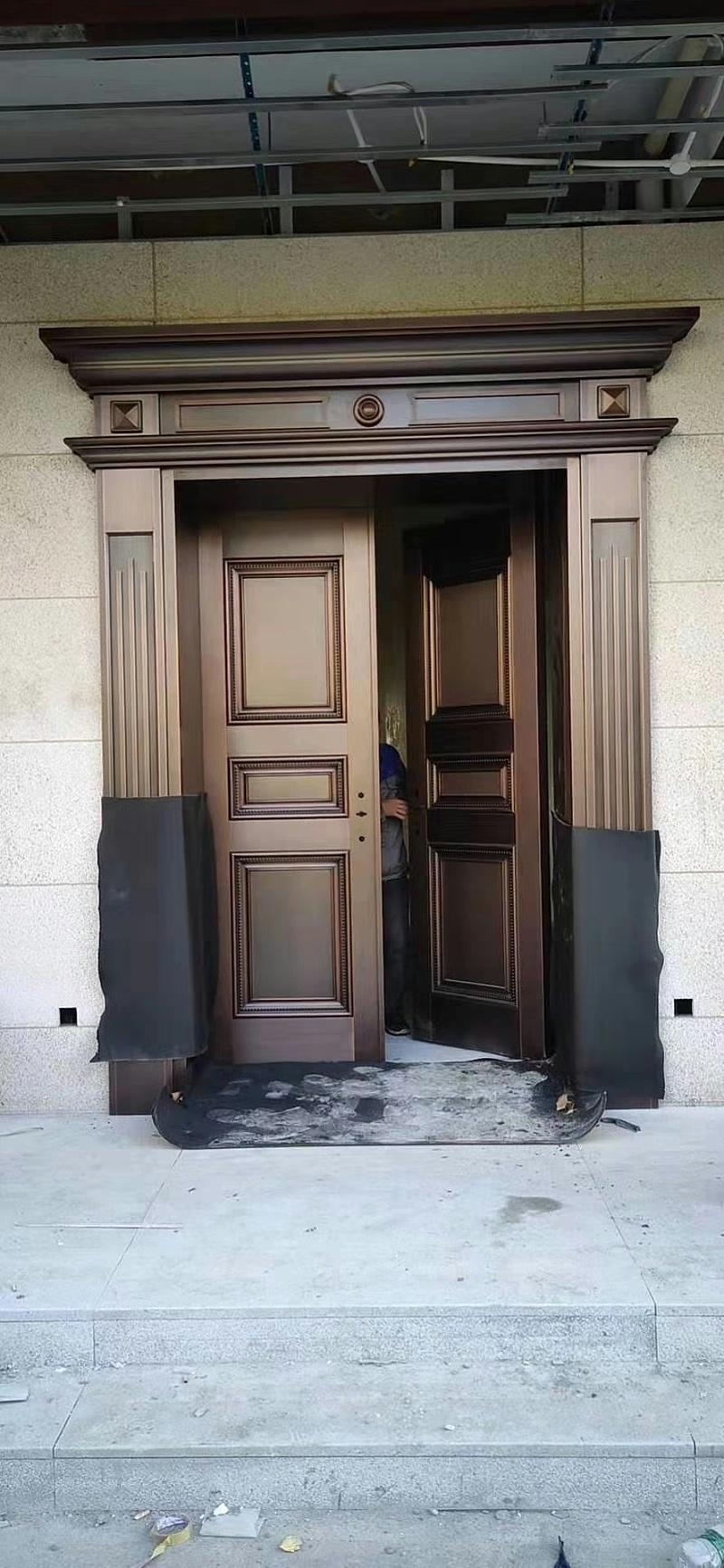 简约别墅铜门 (2)