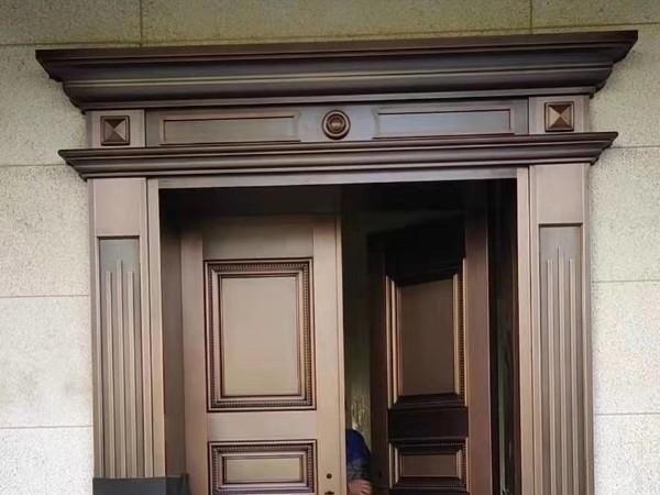 广东佛山爱唯铜艺铜门厂家——简约风格别墅铜门