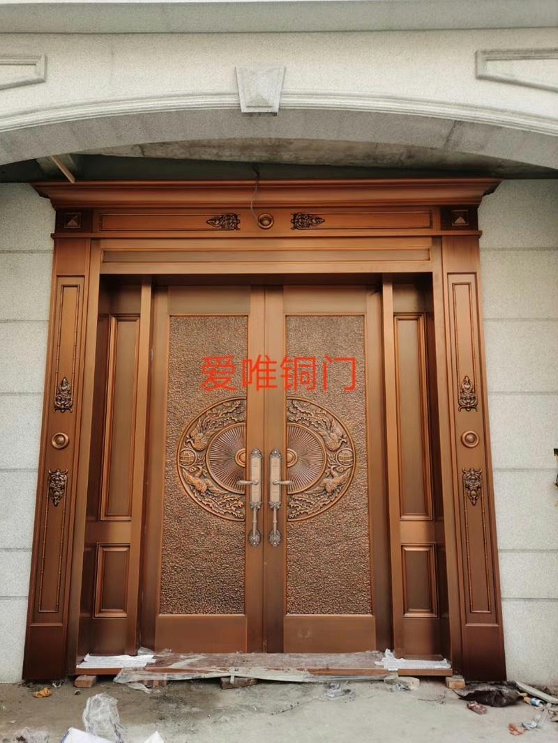 别墅铜门百鸟朝凤 (2)