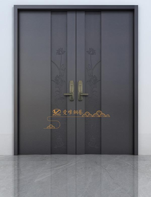 定做高档铜门