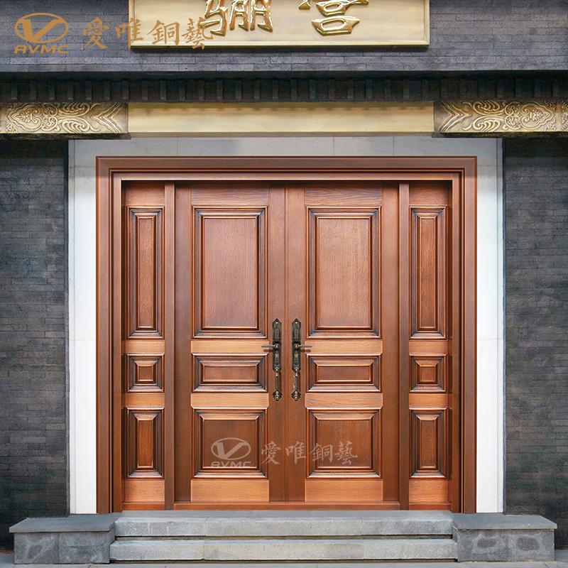 别墅铜门四开大门