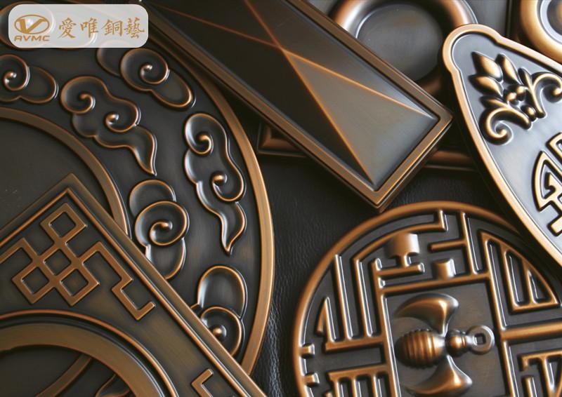 铜门花件、铜门图案寓意
