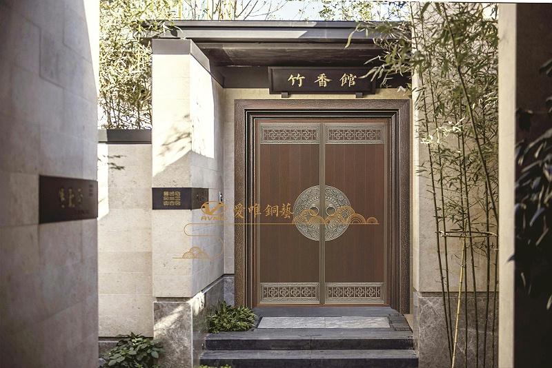 爱唯铜门新中式铜门