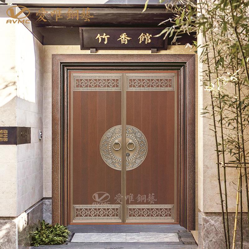 爱唯铜门新中式