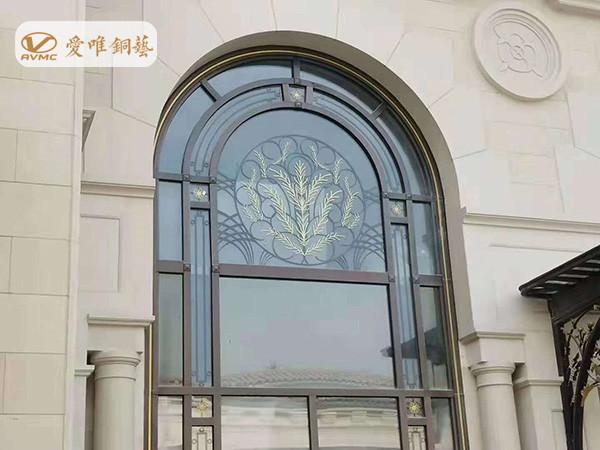 四川成都鹿山国际别墅铜门工程案例——爱唯铜艺