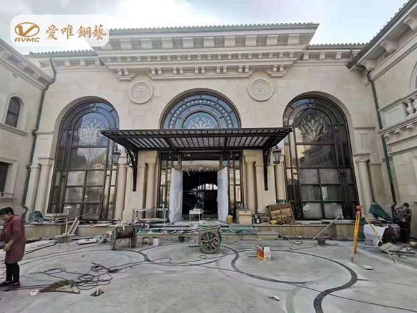 别墅铜门工程案例k3 (2)_副本