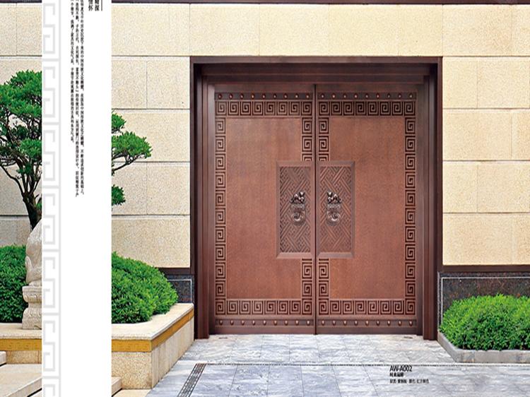 龙派爱唯铜门-庭院铜门