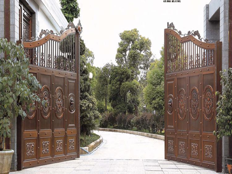 爱唯铜门 别墅庭院铜门入户门定做