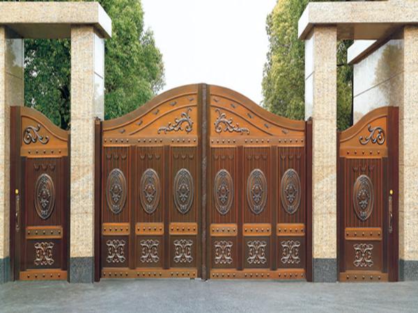 龙派爱唯铜门别墅庭院铜门|铜门招商加盟