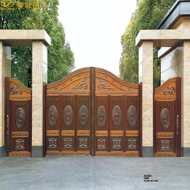 爱唯铜门-别墅庭院大铜门