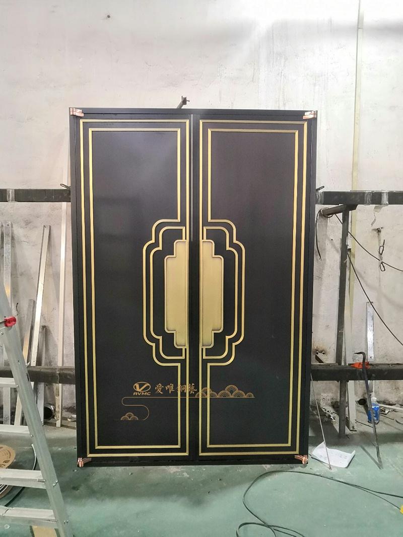 新中式铜门调试 (2)