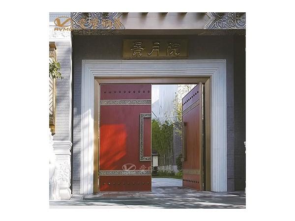 龙派爱唯铜艺新中式铜门定制|铜门招商加盟
