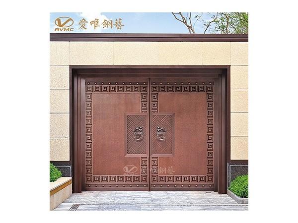爱唯铜艺别墅庭院铜门|铜门招商加盟