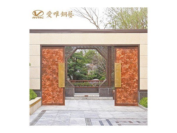 龙派爱唯铜艺别墅庭院铜门|铜门招商加盟